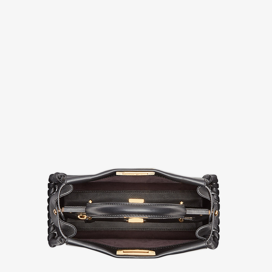 FENDI PEEKABOO ICONIC MEDIUM - Schwarze Ledertasche - view 4 detail