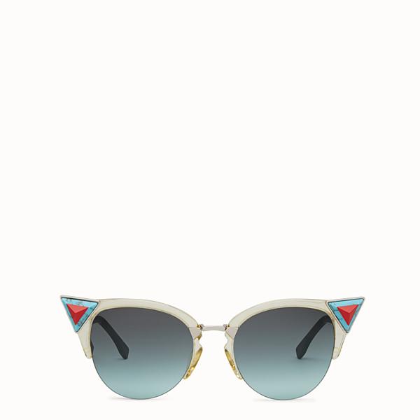 FENDI IRIDIA - Yellow sunglasses with stones - view 1 small thumbnail