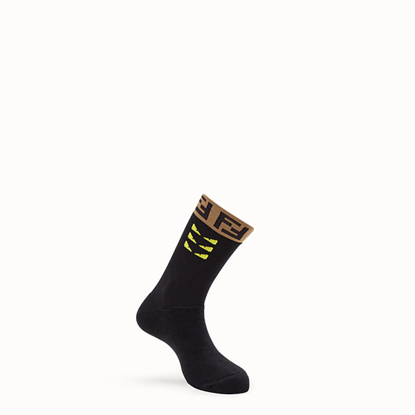 FENDI SOCKEN - Socken aus Baumwollstretch in Schwarz - view 1 small thumbnail