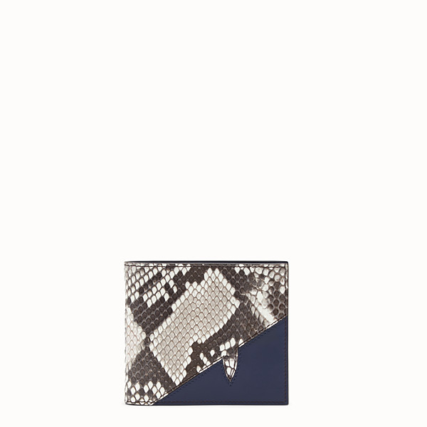 FENDI WALLET - White python bi-fold wallet - view 1 small thumbnail