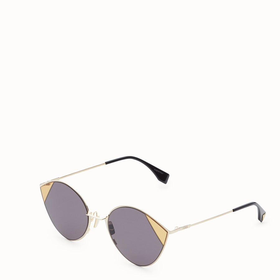 FENDI CUT-EYE - Gold-coloured sunglasses - view 2 detail