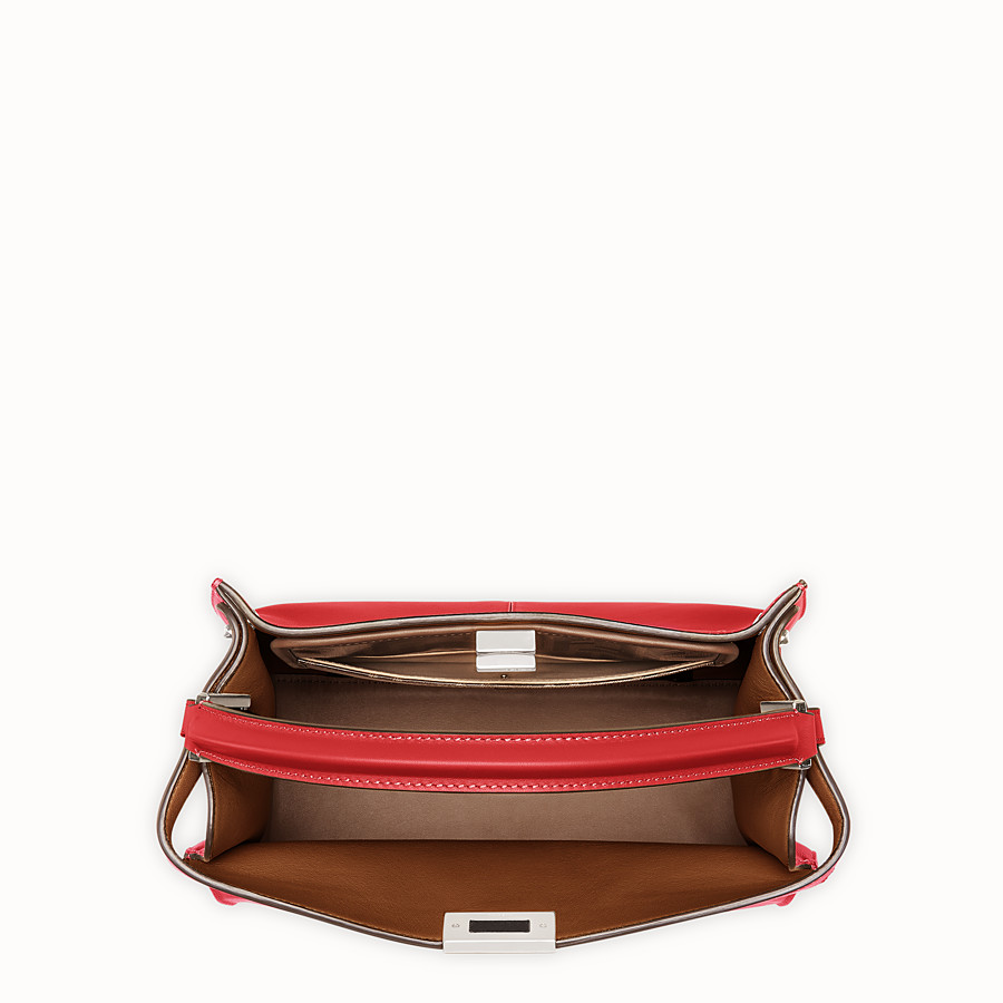 FENDI PEEKABOO X-LITE REGULAR - Red leather bag - view 5 detail