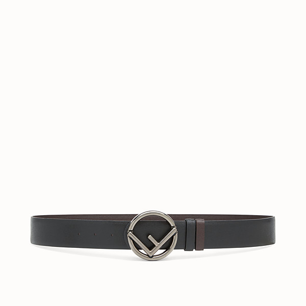 FENDI BELT - Black and brown leather belt - view 1 small thumbnail