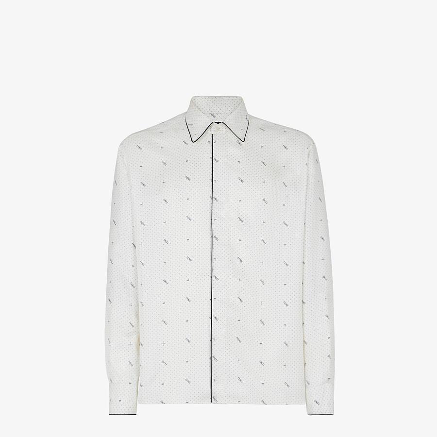 FENDI 恤衫 - 白色真絲恤衫 - view 1 detail