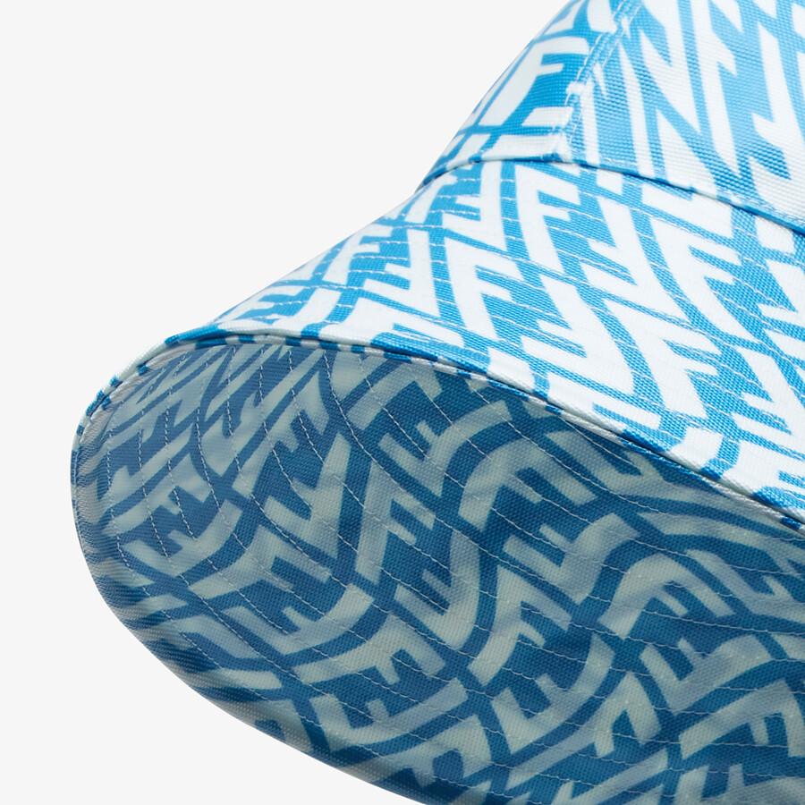 FENDI HAT - Light blue canvas hat - view 2 detail