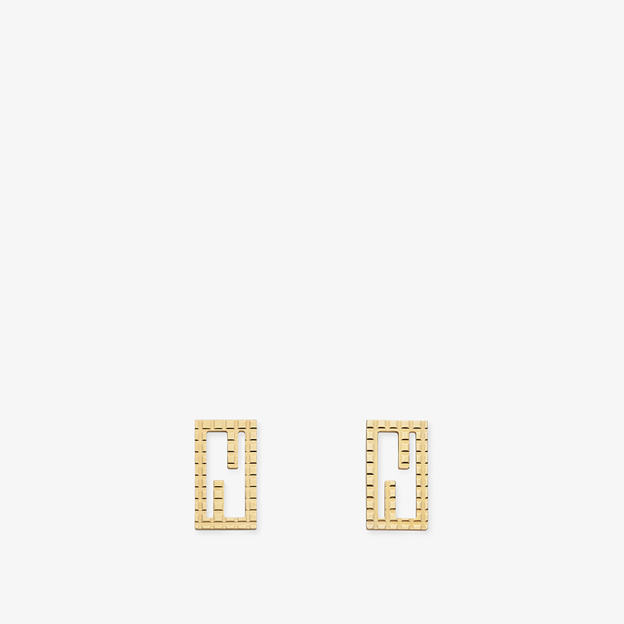 FENDI BAGUETTE EARRINGS - Gold-colour earrings - view 1 detail