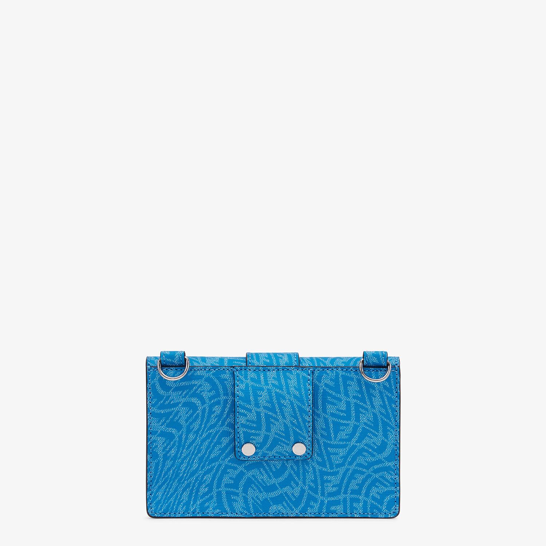 FENDI BAGUETTE POUCH - Blue fabric bag - view 3 detail
