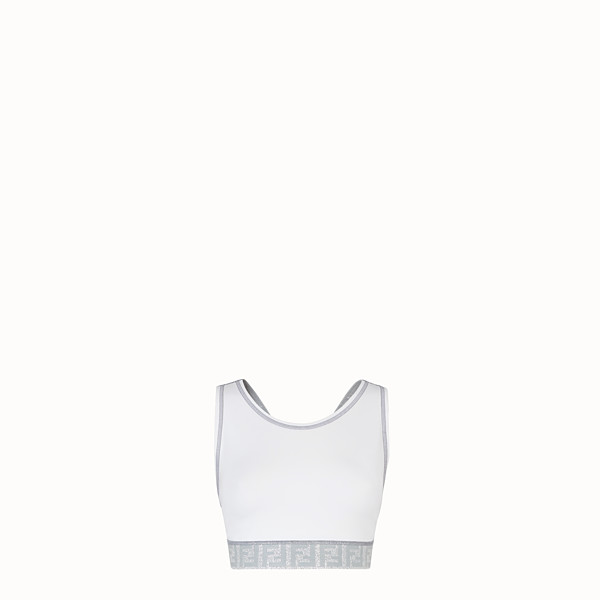 FENDI SPORTS TOP - White tech fabric top - view 1 small thumbnail