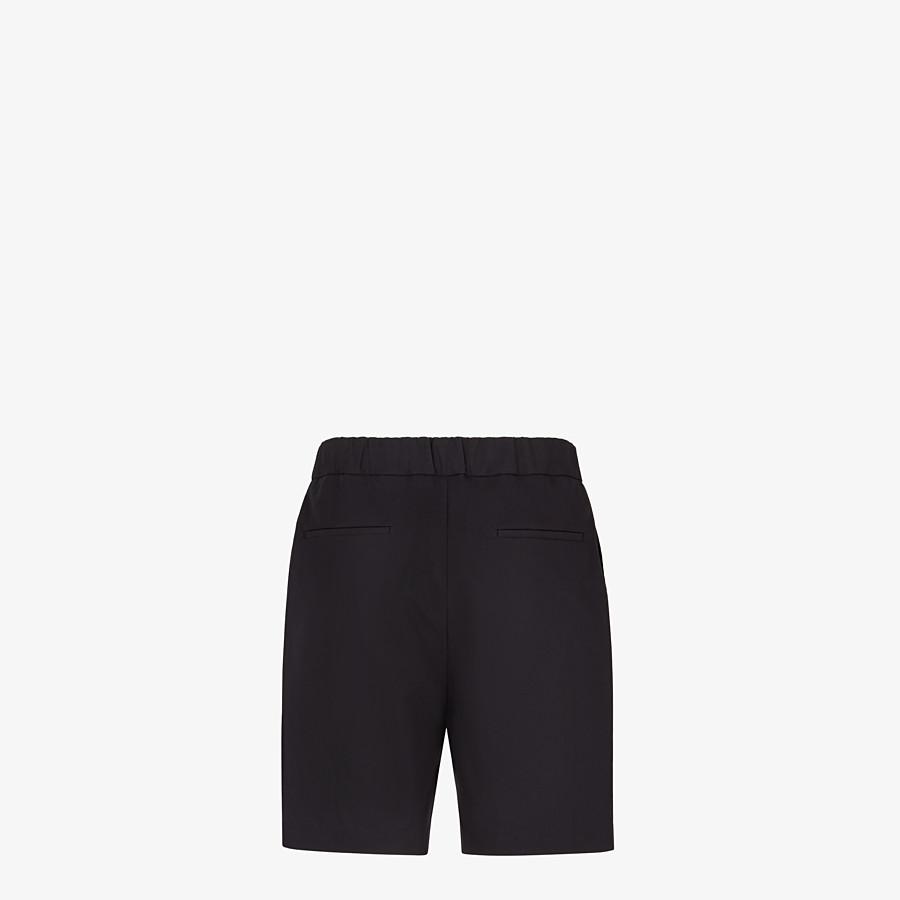 FENDI BERMUDAS - Black cotton pants - view 2 detail