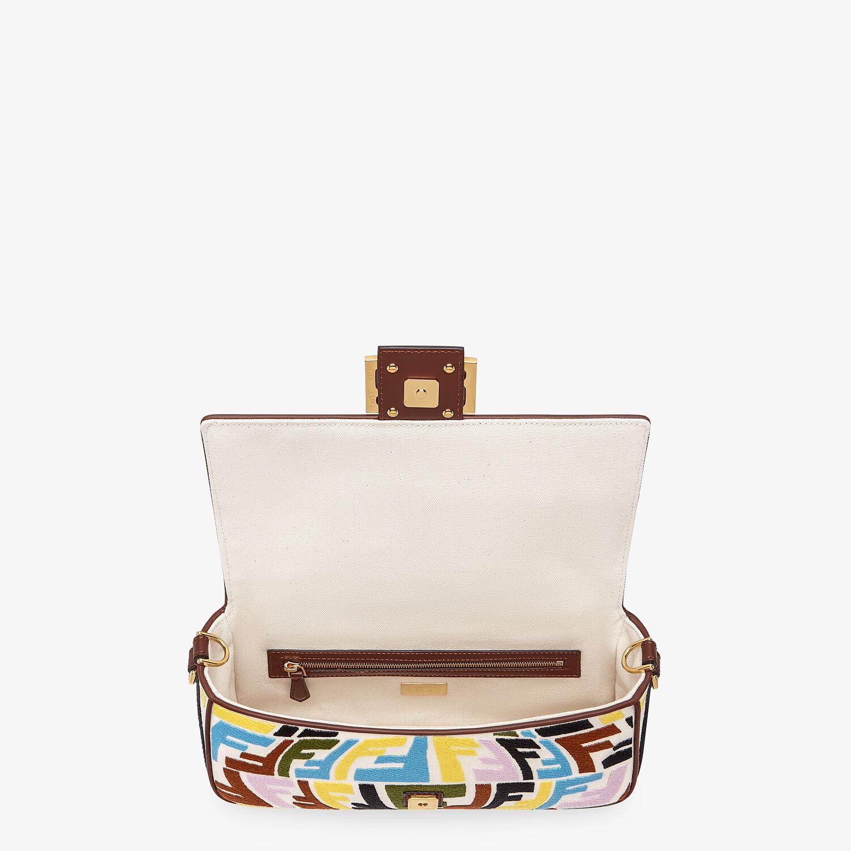 FENDI BAGUETTE - Multicolour embroidered canvas bag - view 5 detail