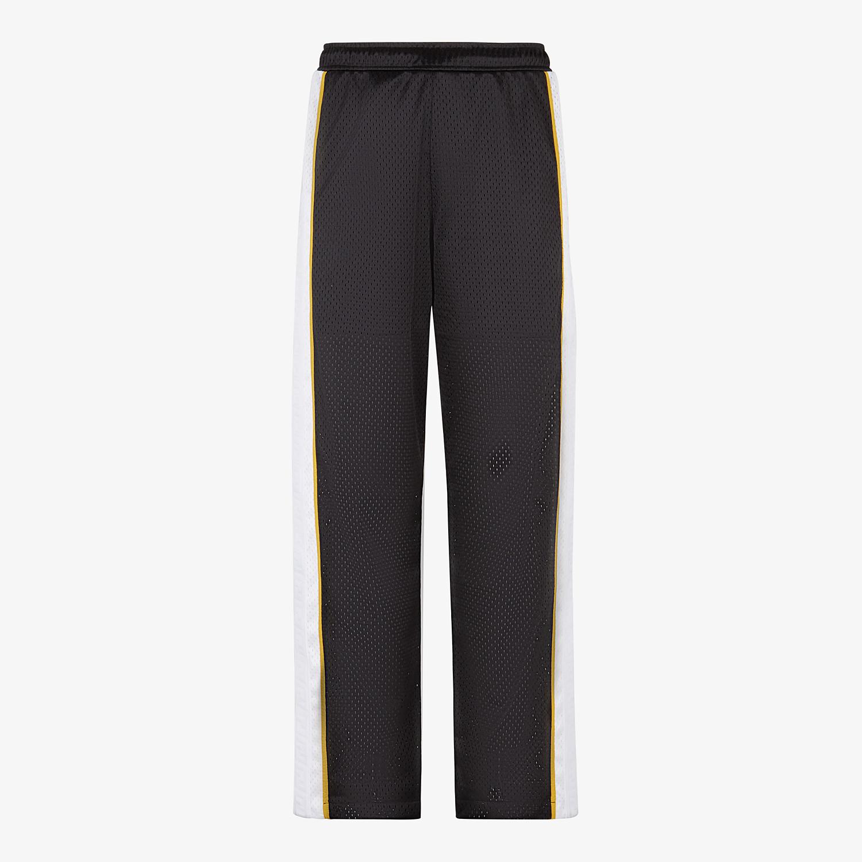 FENDI TROUSERS - Black tech mesh trousers - view 1 detail