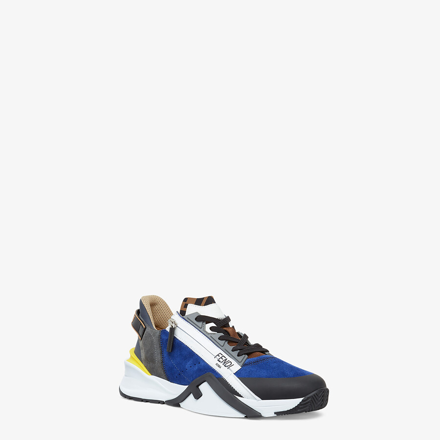 FENDI SNEAKERS - Multicolor suede low-tops - view 2 detail