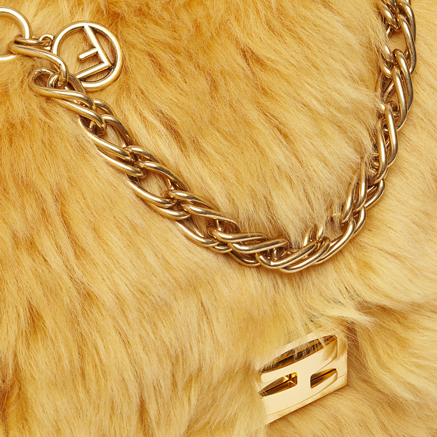 FENDI KAN U - Yellow sheepskin bag - view 5 detail