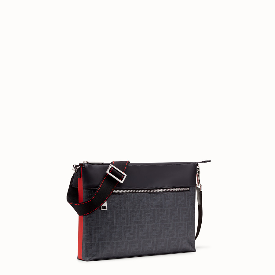 FENDI MESSENGER - Blue fabric pochette - view 2 detail