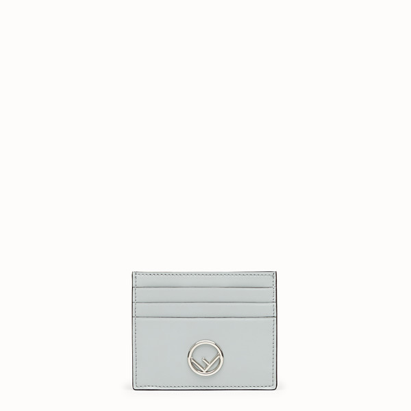FENDI CARD HOLDER - Gray leather flat card holder - view 1 small thumbnail