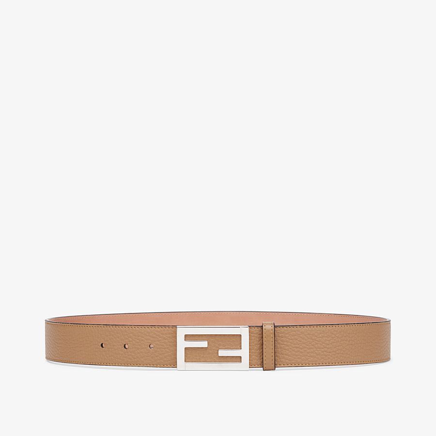 FENDI BELT - Beige leather belt - view 1 detail