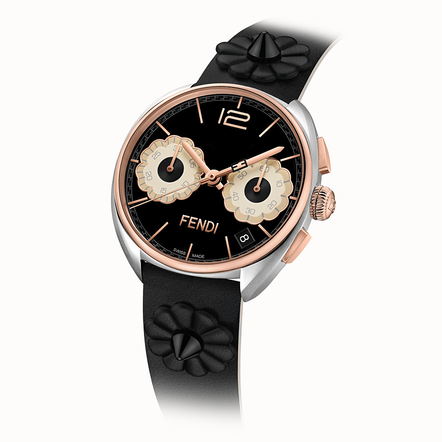 FENDI MOMENTO FENDI - 40 mm - Chronograph watch with flowers and strap - view 2 detail