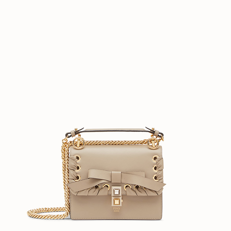 FENDI KAN I SMALL - Beige leather mini-bag - view 1 detail