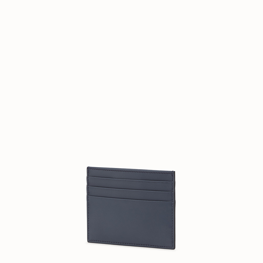 FENDI CARD HOLDER - Blue leather card holder with six slots - view 2 detail