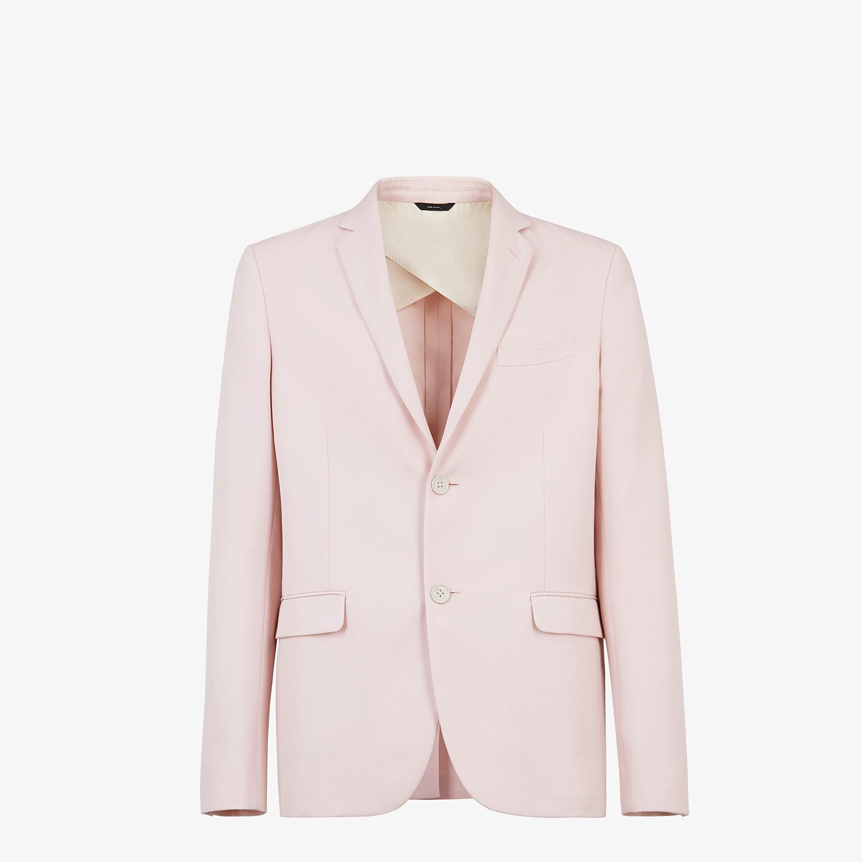 FENDI JACKET - Pink wool blazer - view 1 detail