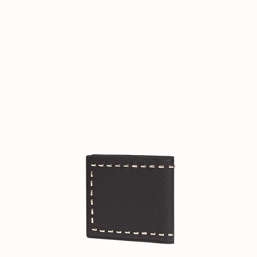 FENDI WALLET - Horizontal in Roman leather with metallic stitching - view 2 detail