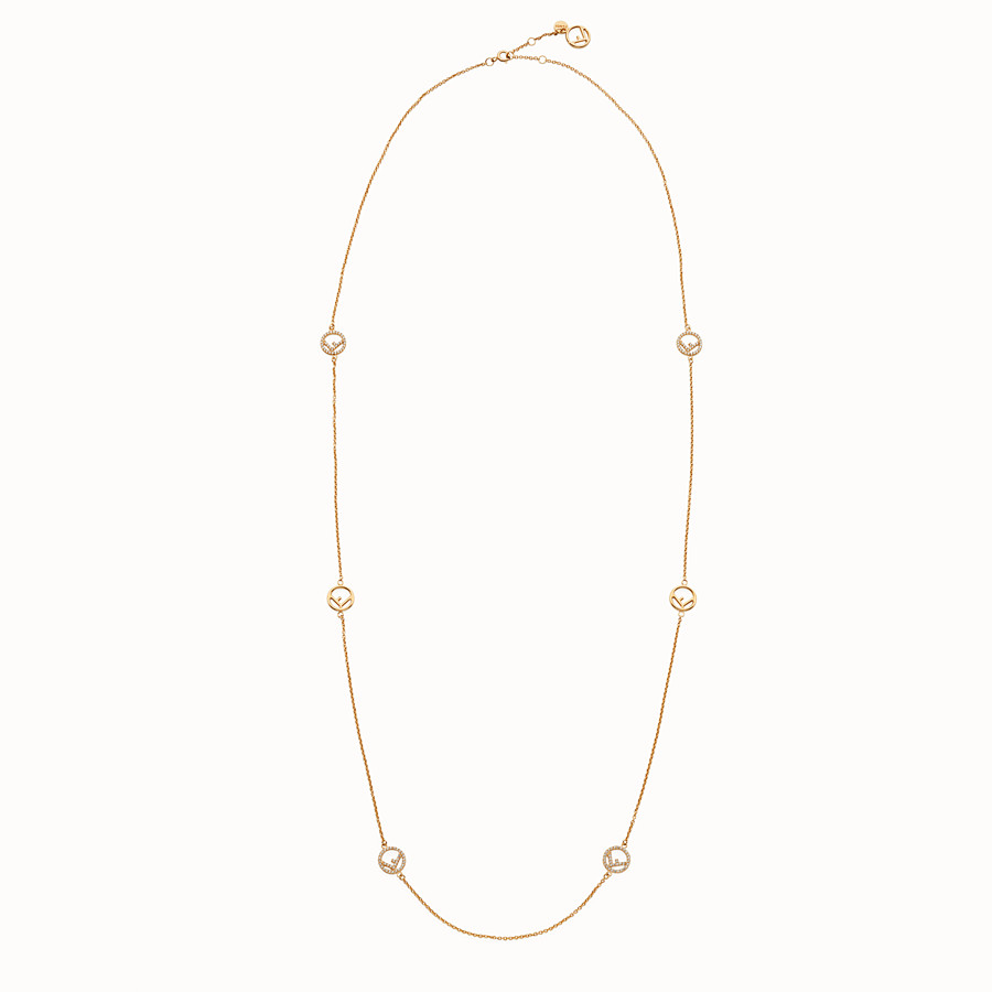 FENDI F IS FENDI NECKLACE - Gold colour necklace - view 1 detail