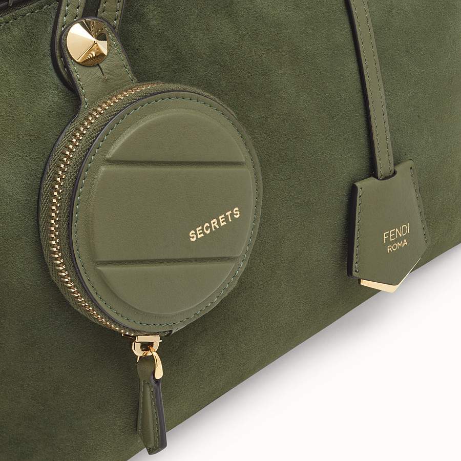 FENDI BY THE WAY REGULAR - Green suede Boston bag - view 6 detail