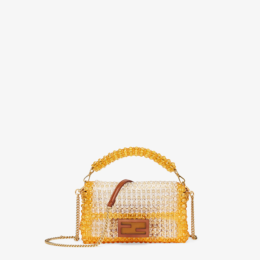 FENDI BAGUETTE - Bag with yellow beads - view 1 detail
