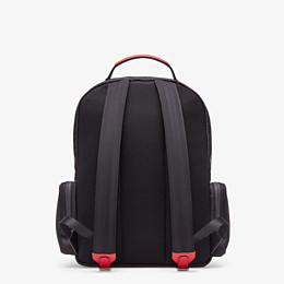 FENDI BACKPACK - Black tech fabric backpack - view 3 thumbnail