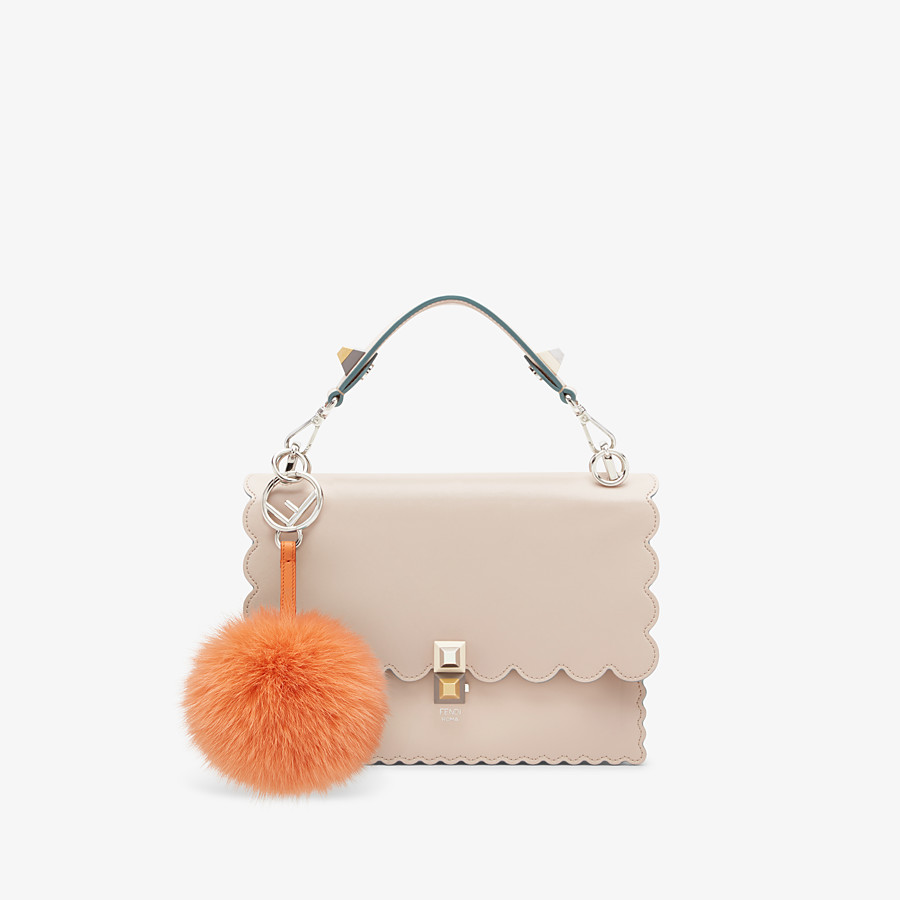 FENDI POM-POM CHARM - Orange fox fur charm - view 2 detail