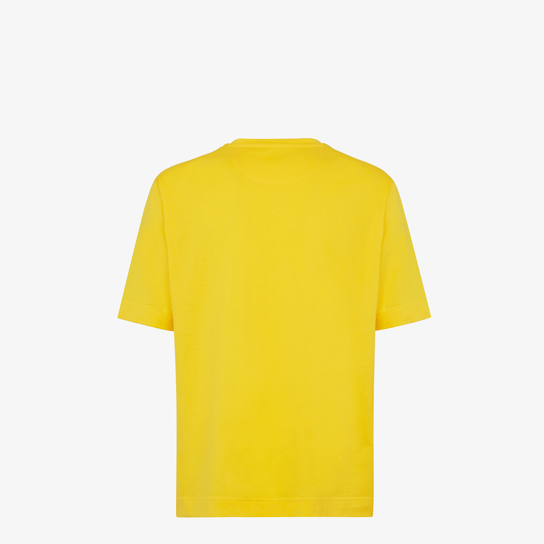 FENDI T-SHIRT - Yellow cotton T-shirt - view 2 detail
