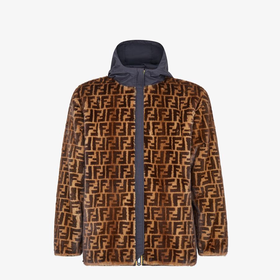 FENDI WINDBREAKER - FF mink and nylon FENDI x K-Way® jacket - view 1 detail