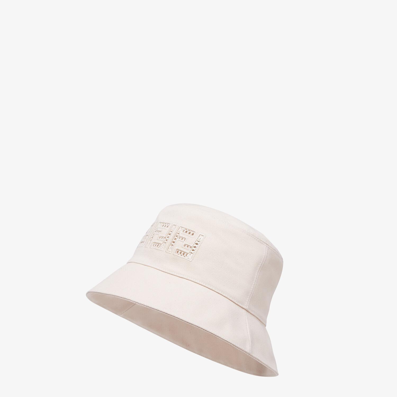 FENDI HAT - Undyed canvas bucket hat - view 1 detail