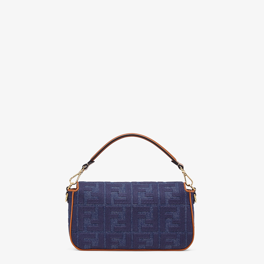 FENDI BAGUETTE - Tasche aus Denim in Blau - view 3 detail