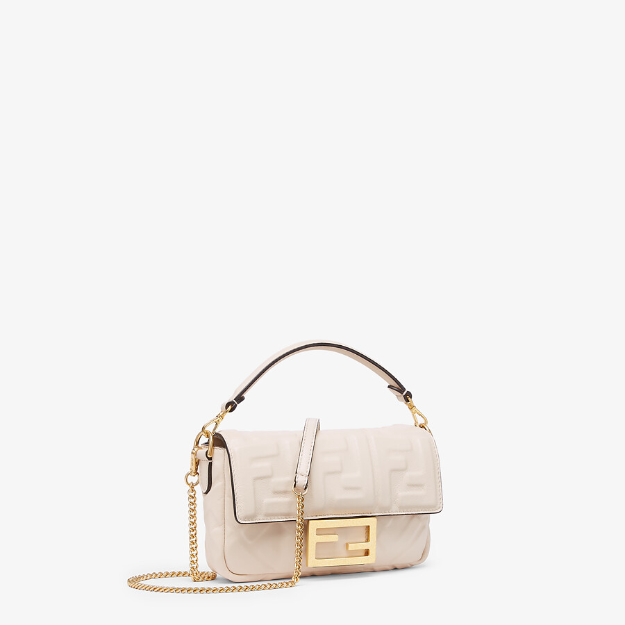 FENDI BAGUETTE - White nappa leather FF bag - view 2 detail