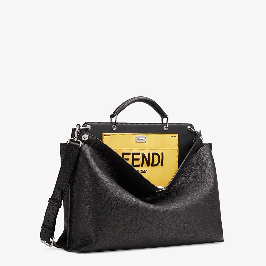 FENDI PEEKABOO ICONIC ESSENTIAL - Black leather bag - view 2 detail