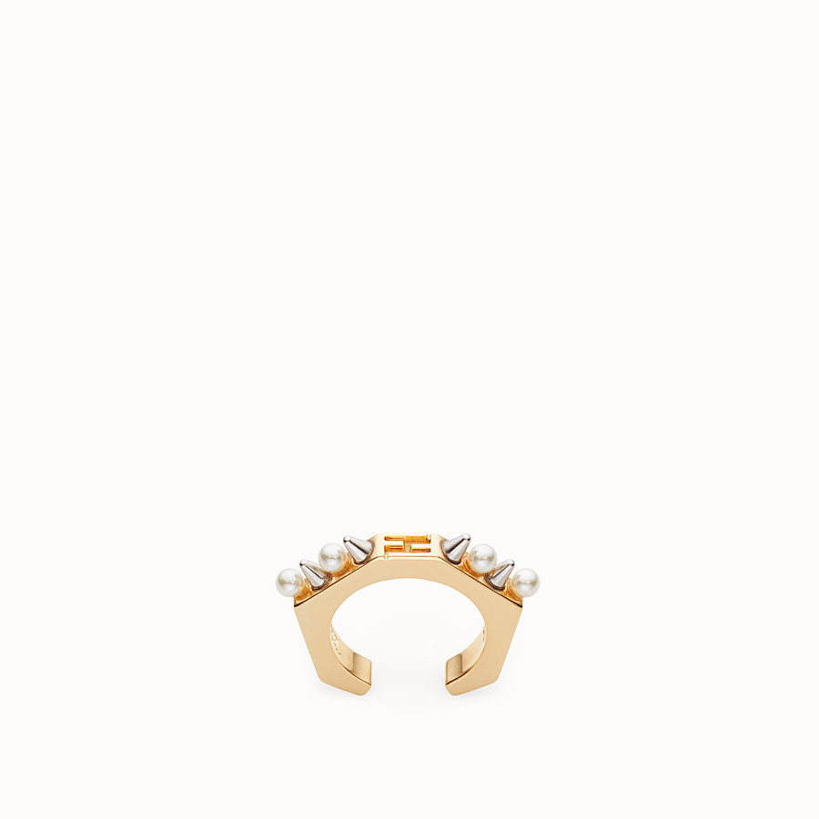 FENDI BAGUETTE RING - Gold-colour ring - view 1 detail