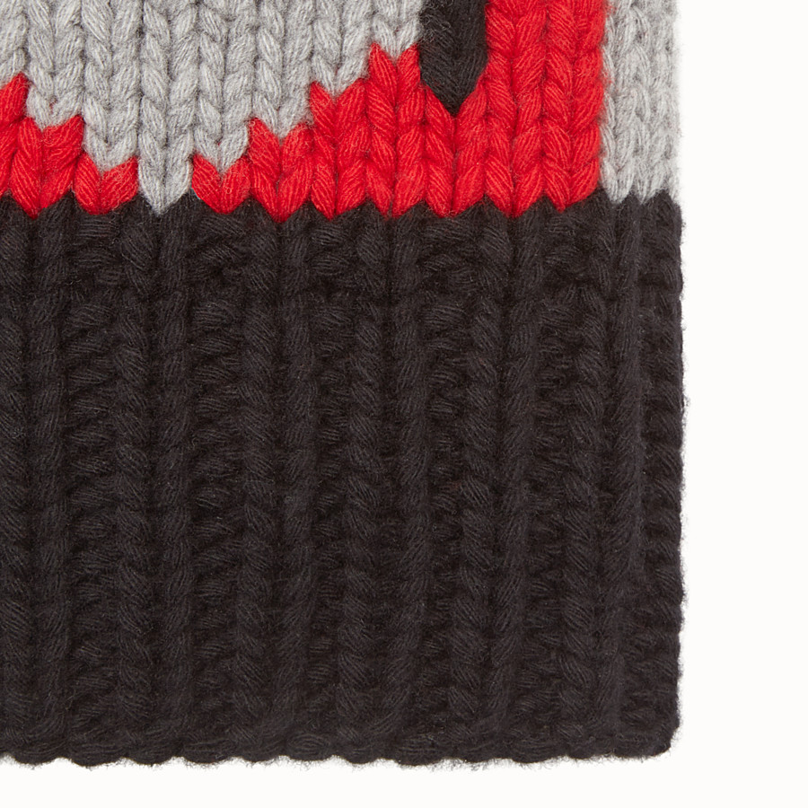 FENDI HAT - in three-tone wool - view 2 detail