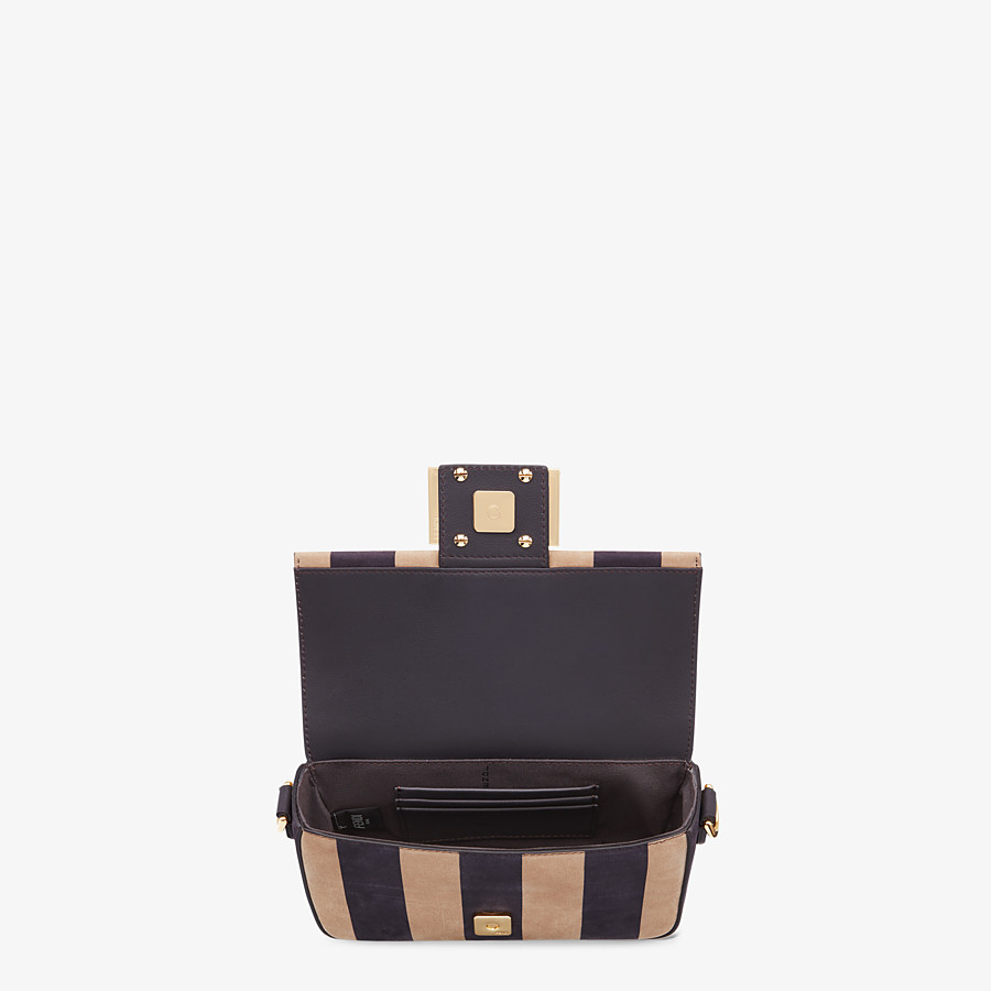 FENDI BAGUETTE - Brown nubuck leather bag - view 4 detail