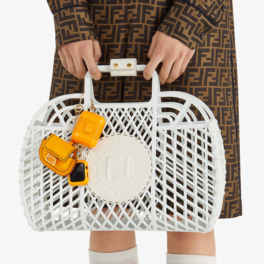 FENDI FENDI BASKET MEDIUM - White recycled plastic mini-bag - view 2 detail