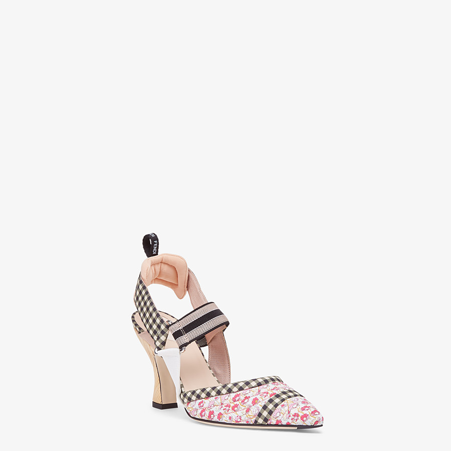 FENDI SLINGBACKS - Multicolor cotton Colibrì - view 2 detail