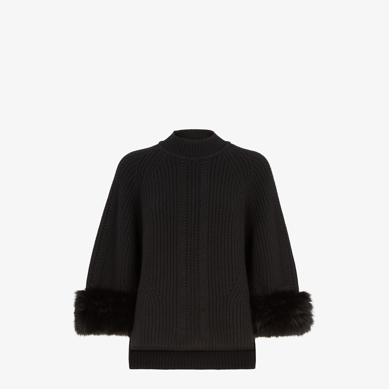 FENDI PULLOVER - Black cashmere sweater - view 1 detail