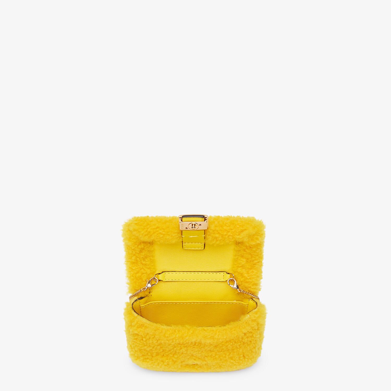 FENDI NANO BAGUETTE CHARM - Yellow sheepskin charm - view 4 detail