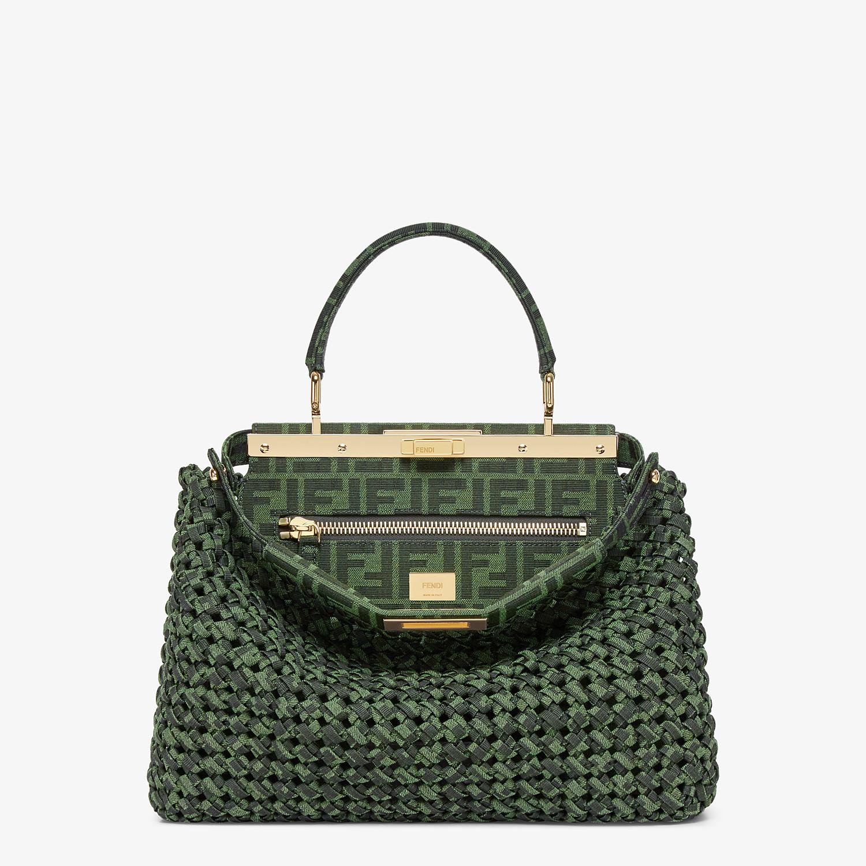 FENDI PEEKABOO ICONIC MEDIUM - Jacquard fabric interlace bag - view 1 detail