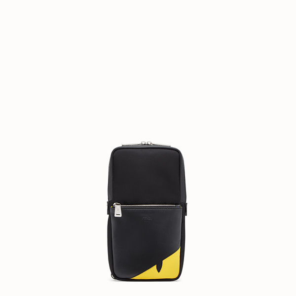 FENDI BELT BAG - Black calf leather, one-shoulder backpack - view 1 small thumbnail