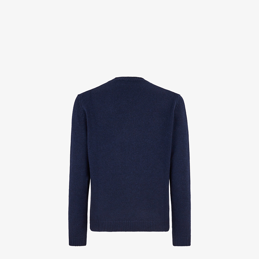 FENDI SWEATER  - Blue cashmere sweater - view 2 detail