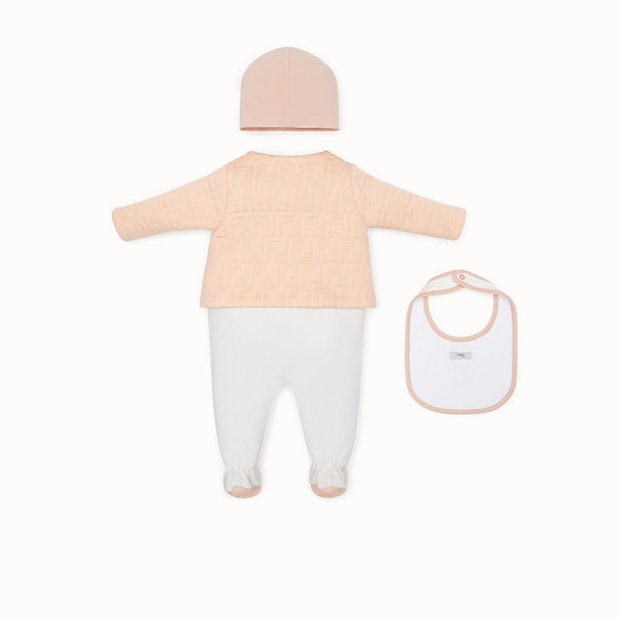 FENDI SET - Pink cotton baby kit - view 2 detail