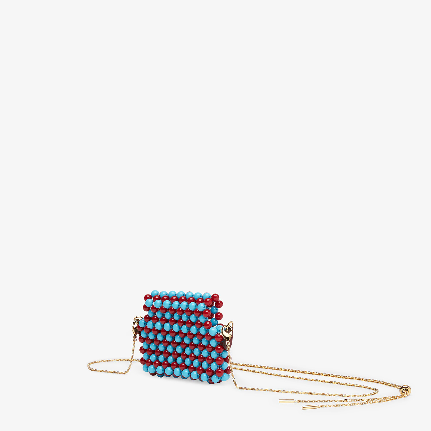 FENDI PICO BAGUETTE CHARM - White charm with beads - view 2 detail