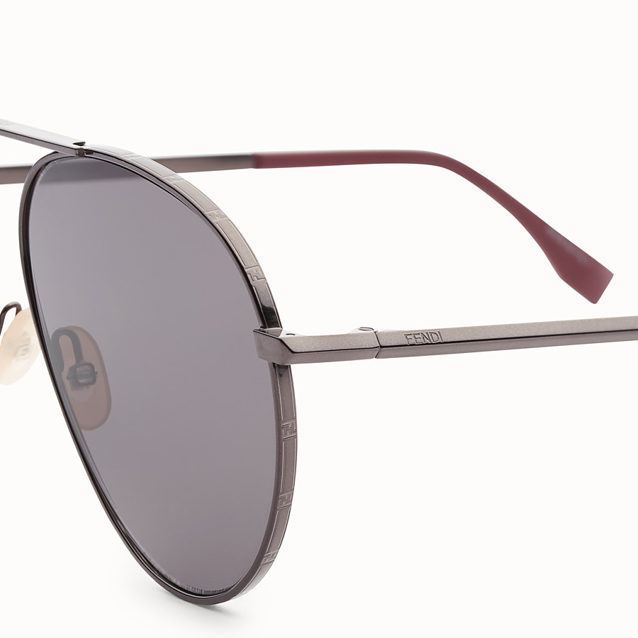 FENDI FENDI AROUND - Dark ruthenium sunglasses - view 3 detail