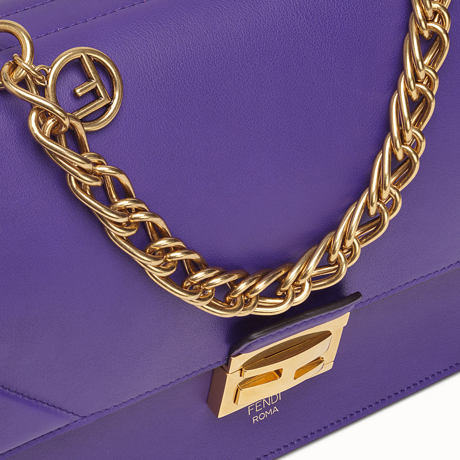 FENDI KAN U - Purple leather bag - view 5 detail